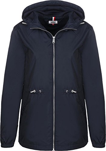Tommy Jeans Mujer Essential Chaqueta Azul (Black Iris 002) X-Large