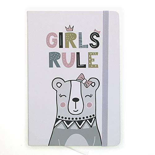 A5ゴムバンドハードカバーエグゼクティブノート罫線入りストラップノート, Ins Animal Polar Bear, Girls Rule