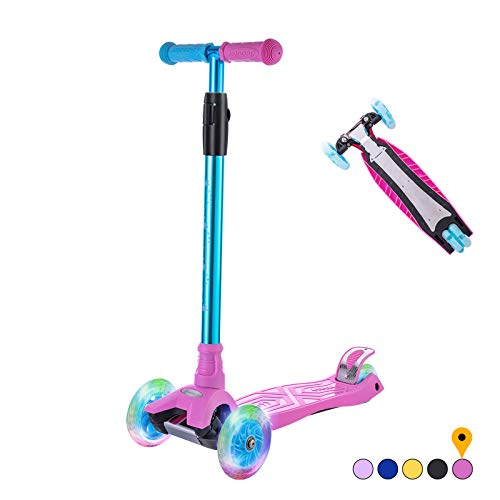 WV WONDER VIEW Kick Scooter Kids Scooter 3 Wheel Scooter, 4 Height Adjustable Pu Wheels Extra Wide...