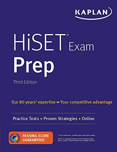 HiSET Exam Prep: Practice Tests + Proven Strategies + Online (Kaplan Test Prep)