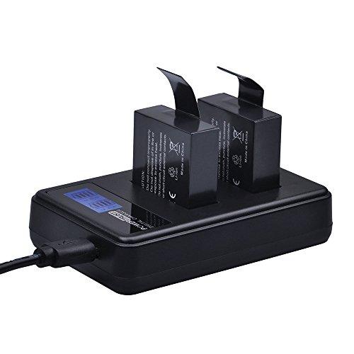PowerTrust SJCAM - Cargador doble USB para cámara SJ4000 SJ5000 SJ6000 SJ7000 SJ8000 SJ9000 Wifi SJ M10
