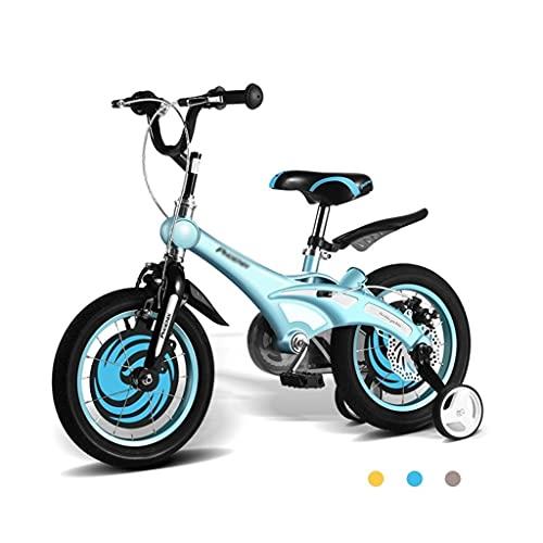 bicicleta para niños, Equilibrio para niños, niños, 2-3-6-8 años, niñas, 12/14 / 16 Pulgadas (Color : Blue, Size : 14inch)