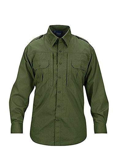 Propper Men's Long Sleeve Tactical Shirt, Olive, X-Large Regular
