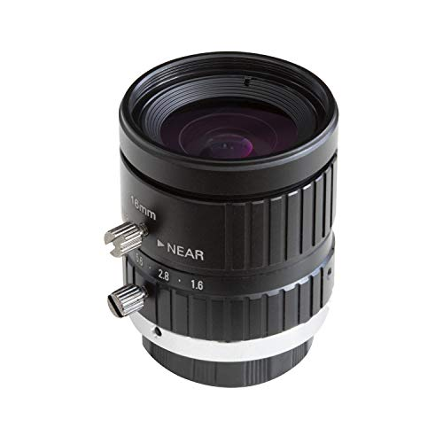 Arducam C-Mount Lens for Raspberry Pi HQ Camera, 16mm Focal Length with Manual Focus and Adjustable Aperture