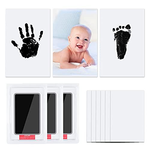 Vicloon Baby Footprint Kit & Handprint Kit,3 st Fotolijst Clay Kit voor pasgeborenen Jongens en Meisjes, Aanpasbare…