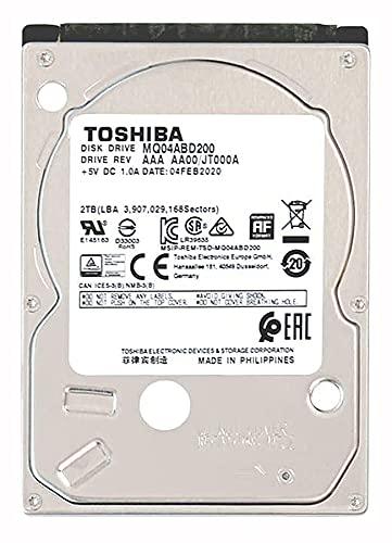 東芝 2.5inch 2TB 内蔵ハードディスク ノートパソコン HDD 6Gbit/s 128MiB 9.5mm 5400rpm SMR MQ04ABD200 (整備済み品)