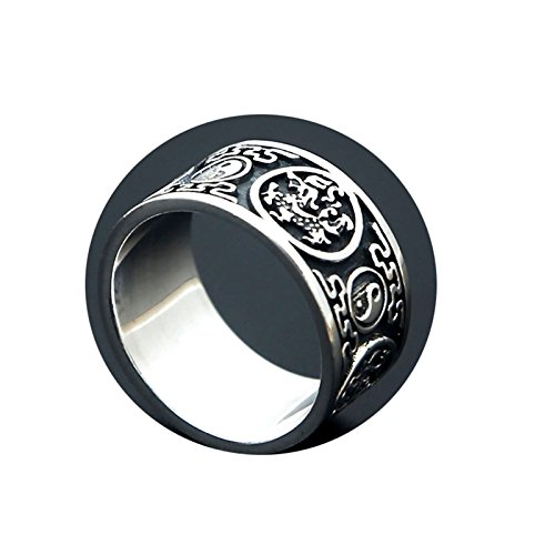 Cinnanal S925 Silver Ring Vintage Ring for Men Women The Four Animal Vintagechinese Style