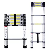 2.60 Meter Aluminium Telescopic Ladder - 9 steps - EN131 Standards