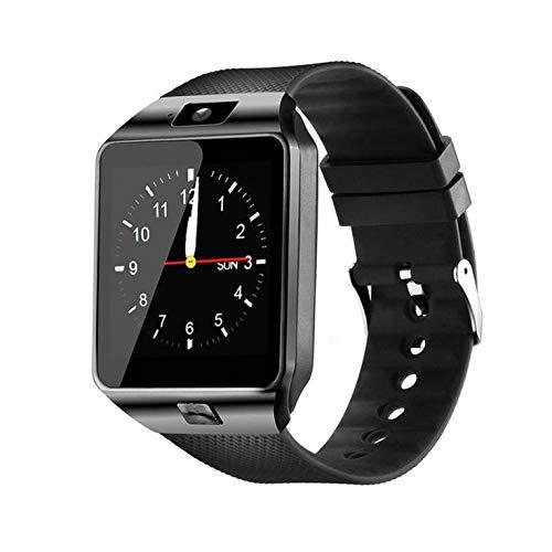 QiKun-Home DZ09 Smartwatch Reloj Inteligente Reloj Digital para Hombre para Apple para teléfono móvil Samsung Tarjeta SIM inalámbrica TF Cámara Negro