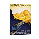 SDFDS Vintage-Poster, Bayrische Zugspitzbahn,
