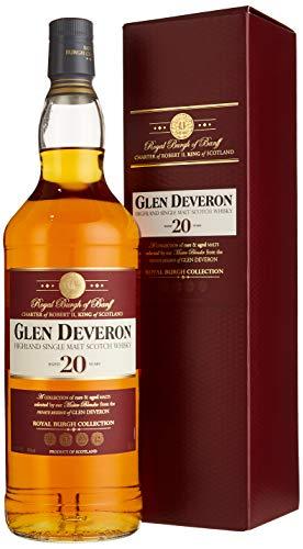 Glen Deveron 20 Years Old mit Geschenkverpackung Whisky (1 x 1 l)