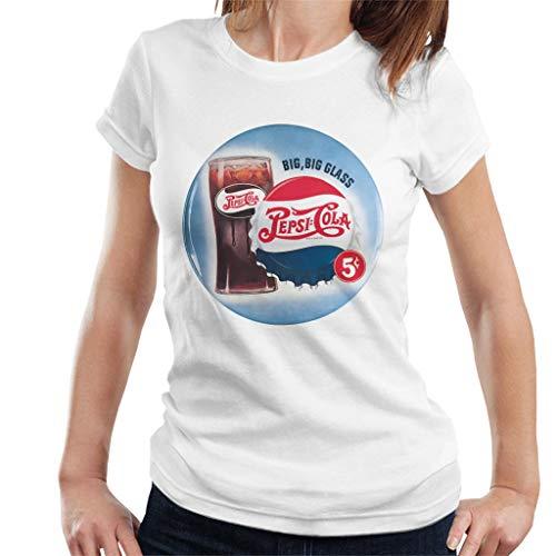 Pepsi Cola Retro Big Glass Women's T-Shirt