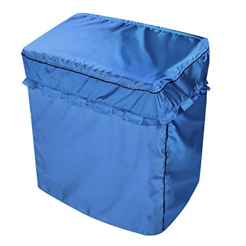 2層洗濯機カバーL(幅92x奥行き50x高さ100cm)専用 防水、防塵、日焼け止め、ジッパー、ベルクロダブルコンビネーション、3面パッケージデザイン(ブルー)