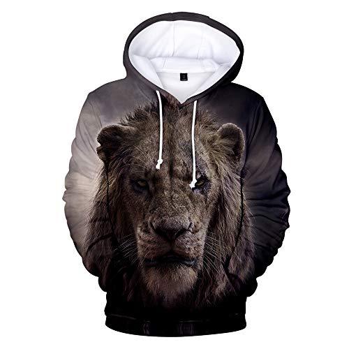 The Lion King Mochila Casual Sudadera con Capucha Lion Printing Sudadera con...