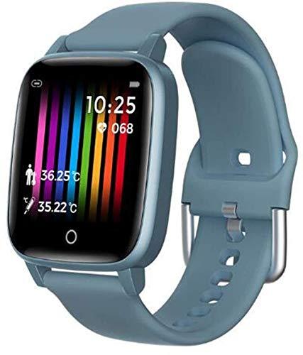 AMBM Para HW P40 Pro P30 P20 Mate30 Pro Mate 20 RS Mate10 Lite Mate9 Reloj inteligente Monitoreo de Temperatura Corporal Reloj IP67 Impermeable (Color: Azul)-Azul