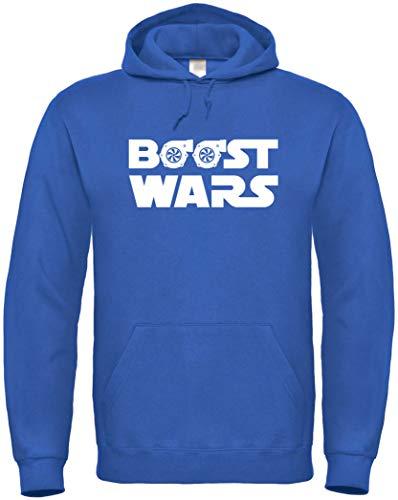 Textildruck Universum Hoodie Boost Wars (M, Royalblau)