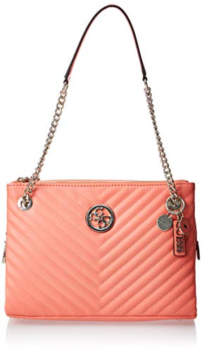 GUESS Blakely Shoulder Bag Coral One Size