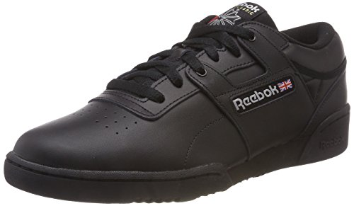 Reebok Herren Workout Low Gymnastikschuhe, Schwarz (Int/Black/Light Grey Int/Black/Light Grey), 43 EU