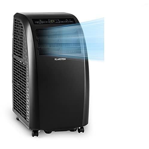 Klarstein Metrobreeze Rom Smart portátil, 3 en 1: Ventilador/humidificador/aire acondicionado, wifi: Control por app, A+ programable, mando a distancia, 10000 BTU / 3,0 kW, negro