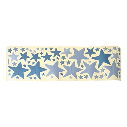 JHD Bunte Sterne Wandaufkleber PVC Selbstklebend Abnehmbar Wasserdicht Tapete Aufkleber Hintergrund Dekor für Kinder Schlafzimmer Wohnzimmer Klassenzimmer Kinderzimmer Spielzimmer