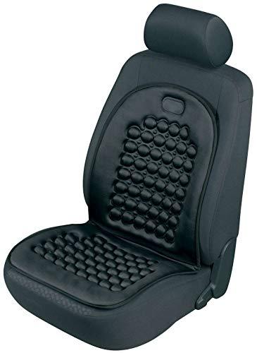 Walser 14186 Autositzauflage Noppi schwarz massierend, Universelle Sitzauflage und Schutzunterlage, Sitzschoner für Pkw und LKW