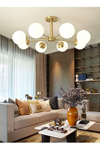 Luxe hanglamp van Scandinavisch licht, compleet met koper, moderne slaapkamer, werkkamer, decoratieve glazen lamp prachtig en bella,8
