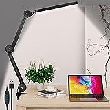 Lámpara Escritorio LED,EVARY 14W Lámpara de Mesa de Oficina,Con 3 Colores y 10 Niveles de Brillo,Atenuación Continua,Función de Memoria,Incluye Adaptador CE[Clase de eficiencia energética A++]