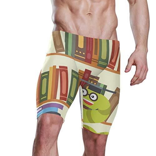 DEZIRO Bookworm Bücherregal Herren sportlich strapazierfähig Training Polyester Badeanzug Gr. M, 1