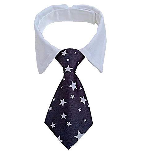 Markko Hunde-Krawatte, gestreift, mit Fliege, verstellbar, für Party, Hochzeit, 13 / S / 32 cm