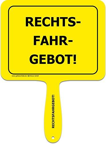 ARTICOO Rechtsfahrgebot! Spruch Schild für's Auto | Lustiges Provokantes Funschild | Autoscheibe ADAC Mittelspurschleicher