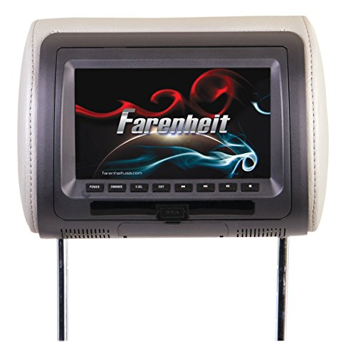 "HRD-71CC Farenheit 7"" Universal DVD Headrest (with USB/Aux)"