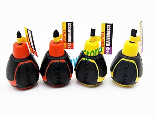 Mini destornillador y destornilladores ranurados de 1 pieza, destornillador ultracorto, herramienta manual, 5x25
