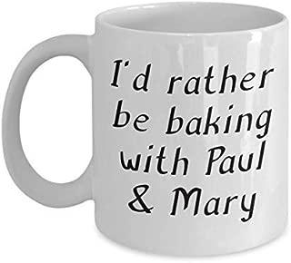 Baking with Paul & Mary Mug Great British Baking Show Inspired