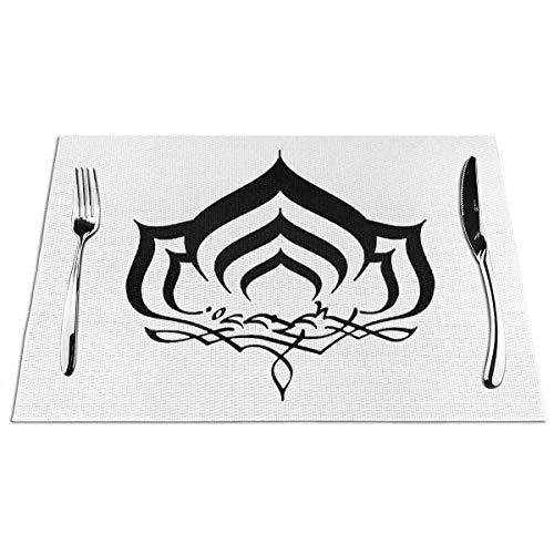 Suo Long Warframe Manteles Individuales sólidos para Mesa de Comedor Alfombras de Mesa de Cocina