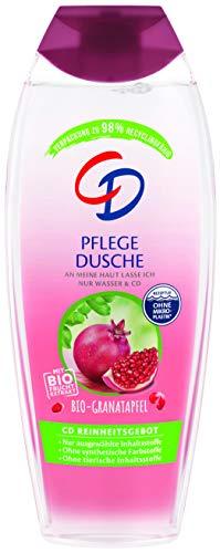 CD Pflege Dusche mit Bio-Granatapfel-Extrakt, 250 ml, Duschgel mit Bio-Fruchtextrakt, wohltuendes Pflegeprodukt, Showergel für empfindliche Haut, ohne Mikroplastik, vegan