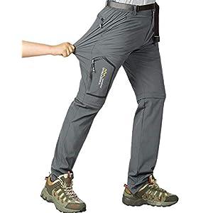 メンズ ハイキング ストレッチパンツ コンバーチブル 速乾 軽量 ジップオフ アウトドア 旅行 サファリパンツ US サイズ: 30 カラー: グレー