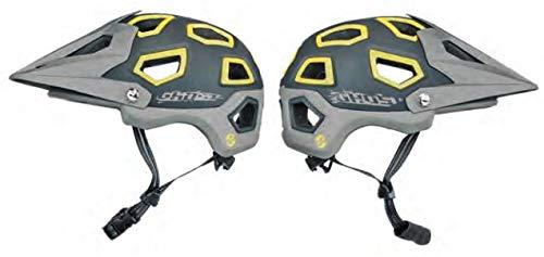 Ghost All Mountain Helmet - in grau/grau/gelb - Fahrradhelm (51-56 cm)