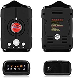 WLZLINE Speed Camera Detector, Voice Alert&Car GPS/Radar/Laser Speed Alarm System, City/Highway Mode 360 Degree Detection Radar Detectors Kit with LED Display for Cars (FCC Certification)