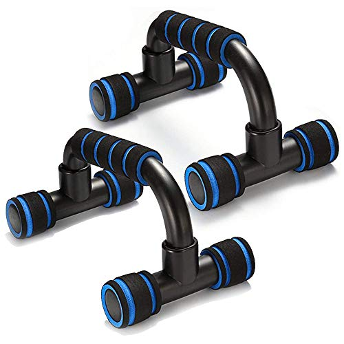 Adkwse Liegestütze,Liegestützgriffe 2er-Set Liegestütz Griff mit rutschfeste,Professional Push Up Bars für Muskeltraining und Krafttraining(Blau)