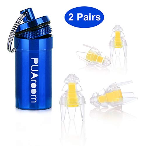 Multi-Purpose earplugs Noise Cancelling Sound Blocking Ear Plugs Reusable Noise Reduction for Musicians Concerts Silicone earplugs.