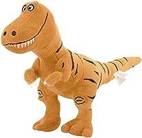 Zooawa Bed Time Stuffed Animal Toys, Cute Soft Plush T-Rex Tyrannosaurus Dinosaur Figure - Brown