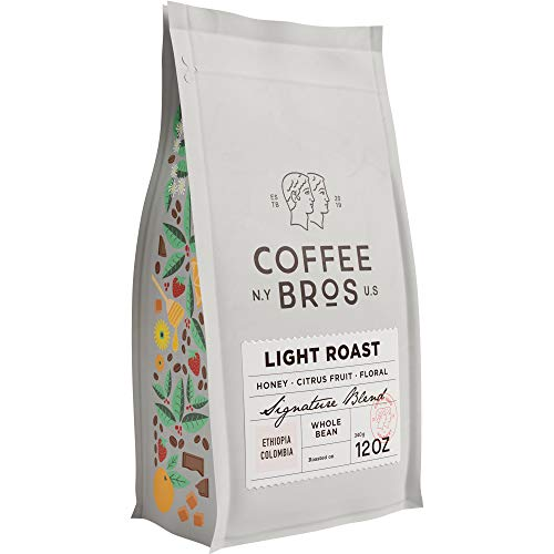 Coffee Bros., Light Roast Coffee Beans, Whole Bean, 100% Arabica Coffee Beans, Breakfast Blend, Crisp & Bright, 12oz