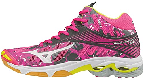 Mizuno Wave Lightning Z4 Mid Volleyball Shoes (Women's Size 6.5) Pink/Grey