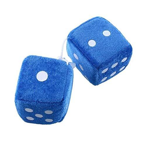 LOGGO Encantos Automóviles Craps Dados Espejo retrovisor del Colgantes Suspensión Adornos Decoración 1pcs Colgante de la Felpa del Coche Colorido (Color Name : Blue)