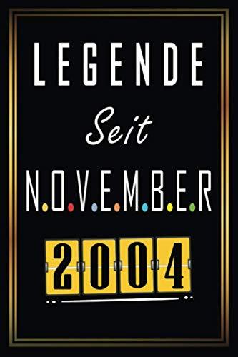 Legende seit November 2004: Geschenkideen jungs mädchen geburtstag 16 jahre, Ein wertvolles Geschenk für Ihre Kinder, Geburtstagsgeschenk für Bruder Schwester Freunde, Notizbuch A5.