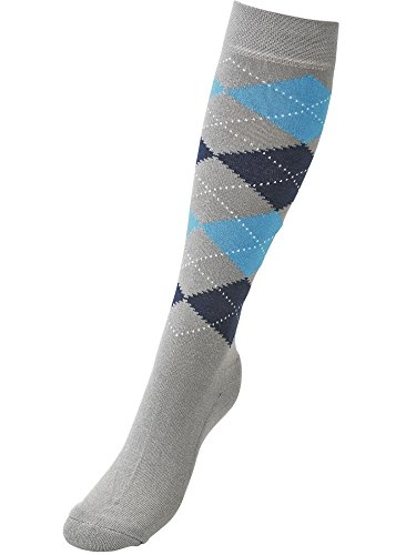 Busse Socken Basic-KARO III, 39-42, Silver Grey/Sky Blue/Navy