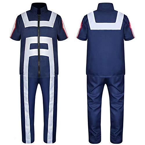 Anime My Hero Academia Izuku Midoriya Shoto Todoroki Disfraz de Cosplay Azul Marino Uniformes de Gimnasia Disfraz