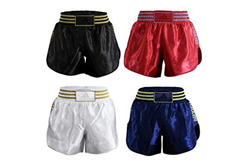 adidas Pantalones Cortos Unisex para Muay Thai Kick Boxing, Color Negro, Talla L