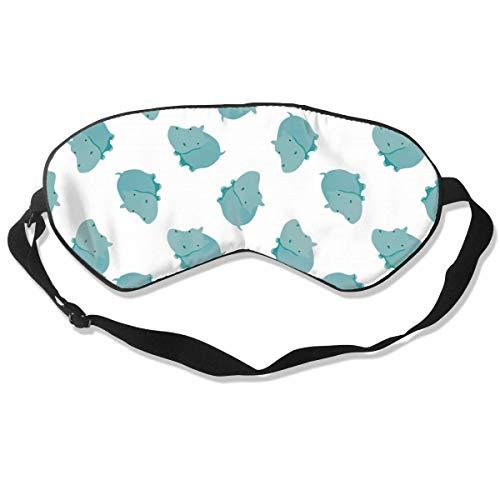 Relieve Eye Stress Natuurlijke Zijde Oog Masker, Soepele Comfortabele Verstelbare Slaap Masker Oog Cover, Mannen Vrouwen Kinderen Reizen Oogschaduw, Groene Hippo Blindfold