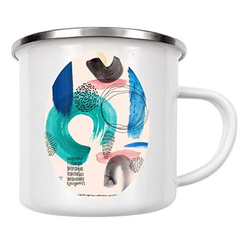 artboxONE Emaille Tasse Form Combination P1 von Sarah Plaumann - Emaille Becher Natur